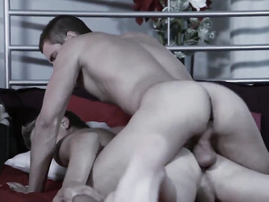 Ass fucking hunks are horny and cumming wildly