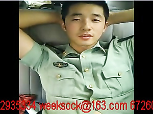 Handsome Chinese policeman jerks off on camera