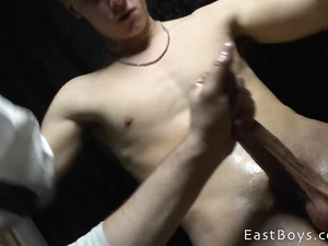 Hunk asks young twink to let him fondle his dick