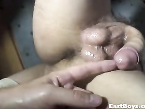 Wonderful sexy shaped twink naughtily shows his big dick