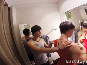 Lovely brunette gay teens are having hot actions at various places