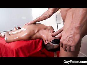 Twink is relaxing young gay with exciting massage