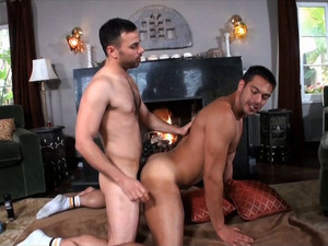Arab hunks are passionately fucking in fancy living room
