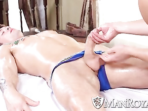 Nice massage and anal fuck for famous Johnny Rapid