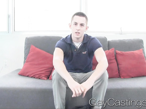 Beauty guy is getting fucked up hard at gay porn casting