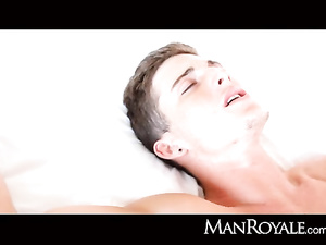 Beauty young twink enjoys hot ass lick and pleasant anal fuck