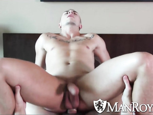 Raunchy brunette does rimming and blowjob in HD