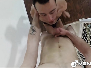 Naughty gay friends are fucking hot on some swings