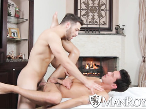 Exciting slender twink gets pleasantly fucked by masseur