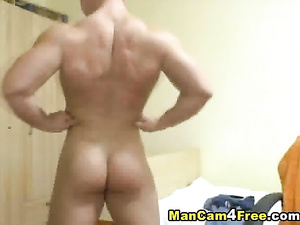 Young twink is posing tight and sexy shaped body