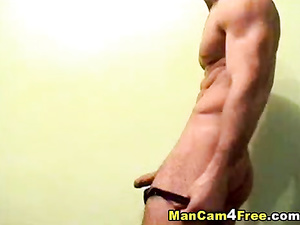 Horny twink hotly masturbates dick and cumshots on his chest
