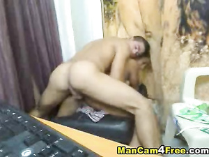 Young twink enjoys blowjob and hotly fucks boyfriend's ass
