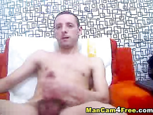 Scrawny gay is pleasuring hot dick masturbation