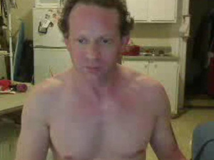 Curly hunk is getting nude and wanking dick in front of the webcam