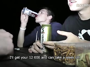 Twink with camera got invited to beer picnic by young guy