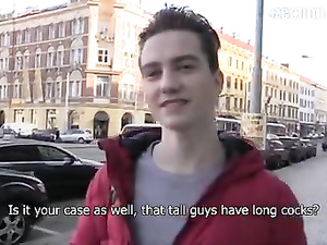 Twink picks up sissy guy from street and seduces him
